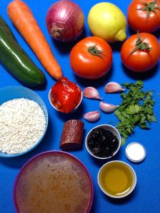arroz con verduras y chorizo ingr