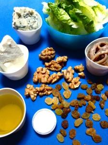 ensalada de anchoas, roquefot y nueces ingr
