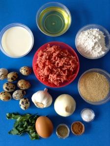 albóndigas rellenas de huevo de codorniz ingr