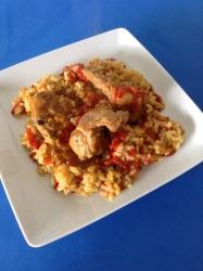 arroz con conejoo