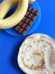 crepes de plátano y chocolate ingr