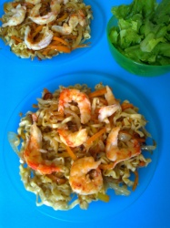 noodles con langotinos