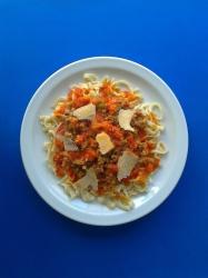 pasta fresca a la boloñesa