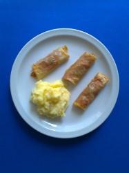 rollitos de pasta filo rellenos de carne