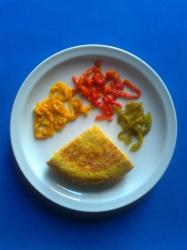 tortilla de patata con pimientos