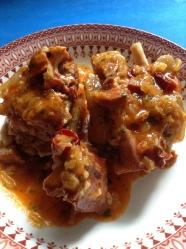 zancarrón de jamón en salsa de callos