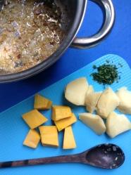 4 sopa de quinua rehogado