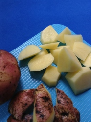6 pelar, cortar y lavar patatas