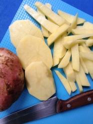 6 pelar y cortar papas bastones