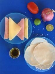 quesadillas de jamón y queso ingr