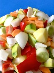 1 trocear las verdurass
