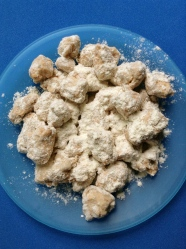 9 mezclar con harina