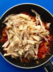 5 añadir pollo