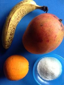 zumo de platano mango naranja ingr