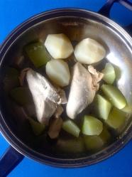 10 pollo papas chayota