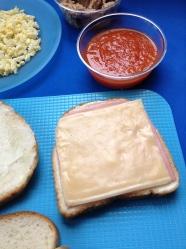 3 poner jamón y queso