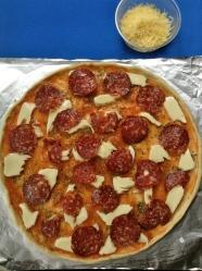 4 queso y peperoni