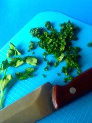 7 picar cilantro