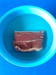 1 lavar la carne