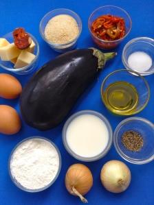croquetas de berenejas, pimientos y chorizo ingr