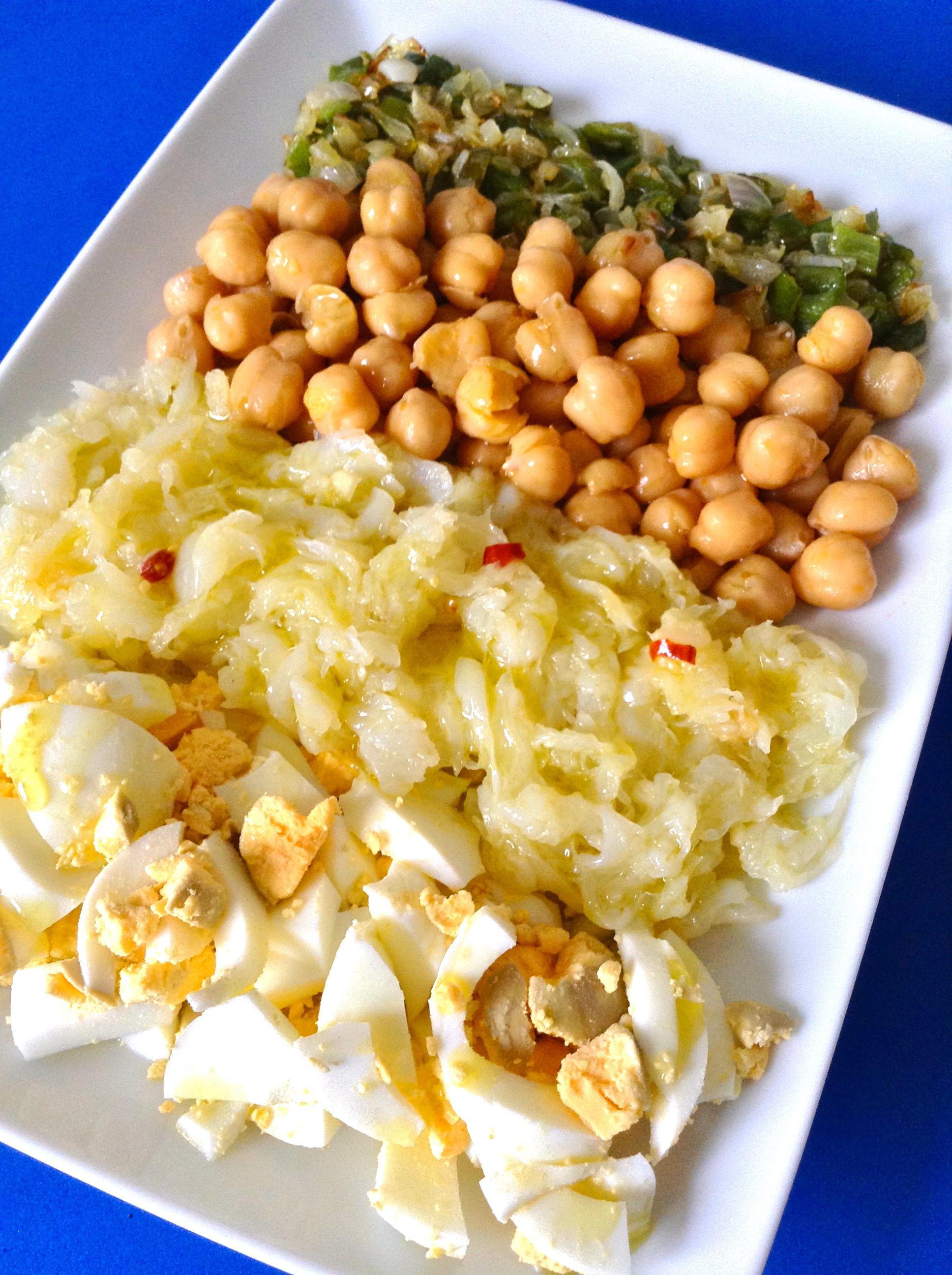 Ensalada de garbanzos y bacalao bubuto bobola - Bacalao con garbanzos y patatas ...