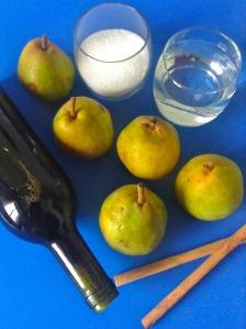 peras al vino ingr