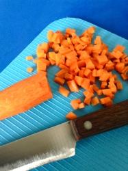1 picar zanahoria