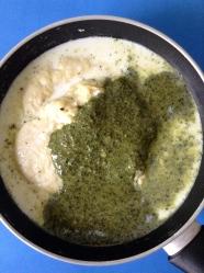 5 añadir salsa pesto