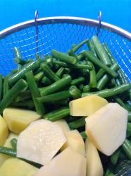 1 lavar alubia y patata