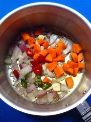 1 picar verduras y rehogarlas