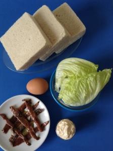 emparedado de anchoa y huevo duro ingr