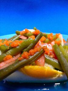 ensalada de alubia verde