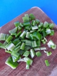 4 picar pimiento verde