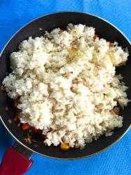 15 añadir arroz