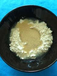 1 agua harina levadura