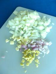 1 picar cebolla ajo jengibre chalotes