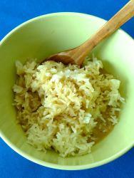 10 mezclar arroz y leche