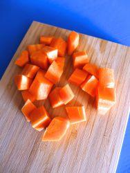 5 pelar y trocear zanahoria