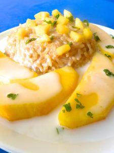 arroz dulce con mangoo