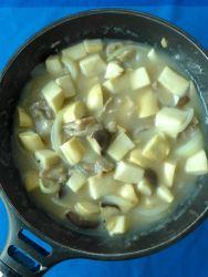 7 añadir harina agua salsa de ostras