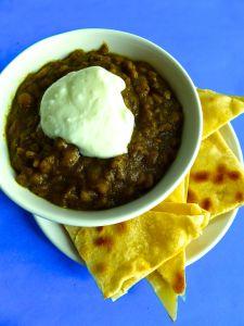 curry de lentejas con yogur