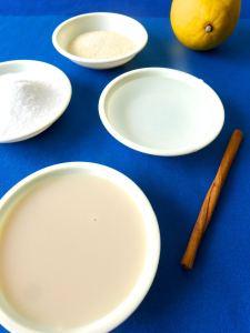 geletanina de leche de soja con caramelo ingr