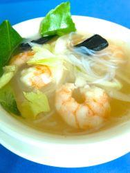 sopa de gambas y fideos de arrozzz