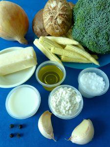gratinado de brocoli setas y maiz ingr