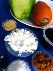 sayote y zanahora con salsa de soja ingr