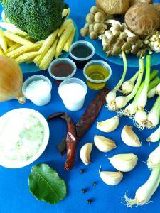 verduras salteadas con salsa de ostras ingr