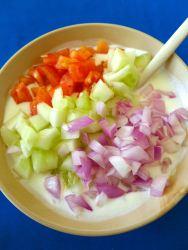 3 mezclar con yogur